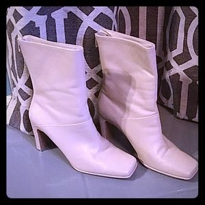Sand Leather Amanda Smith Heel Boots